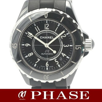 Chanel H0684 J12 Black ceramic x rubber men's automatic self-winding / 31391 fs3gm