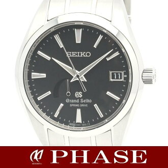 SEIKO Grand Seiko SBGA003 spring drive power reserve ☆ master shop limited SS black dial mens automatic winding / 31397