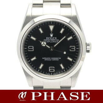 Rolex 114270 Explorer 1 SS black panel K-mens automatic winding / 31405 fs3gm