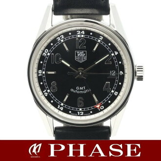 Tag Heuer WV2113 Carrera GMT SSx black leather belt men's automatic self-winding / 31502 fs3gm