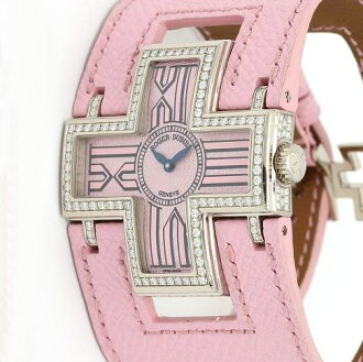 ロジェデュブイ F16850FD follow me 750WGx pink leather belt diamond bezel unisex quartz /31558 fs3gm