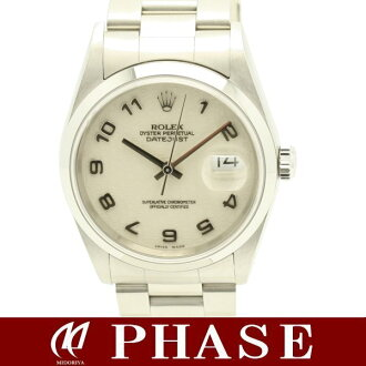 16200 ROLEX( Rolex) date just ivory computer Arabia men /30108 automatic self-winding watch DATEJUST watch