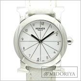 エルメス HERMES Hウォッチ ロンド HR1.210 ホワイト レディース/33823 【中古】 腕時計