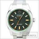 ロレックス ROLEX ミルガウス 116400GV グリーンガラス ルーレット V番 メンズ 自動巻き/33842 【中古】 腕時計楽天カード分割