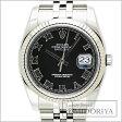 ロレックス ROLEX デイトジャスト 116234 ブラックローマン メンズ/33893 【中古】 腕時計