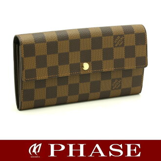 Louis Vuitton ☆ unused N61734 Damier wallet Sarah / 43735 fs3gm