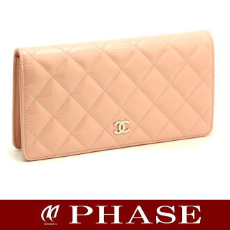 Chanel ☆ unused A31509 matelasse 2 fold wallet / 43777 fs3gm
