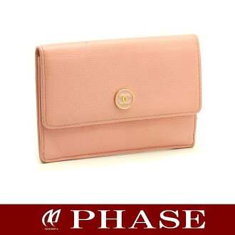 Chanel A20908 ココボタン coin purse / 43845 fs3gm