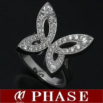 ポンテヴェキオ K18WG butterfly ring diamond 0.93ct 13 /96824