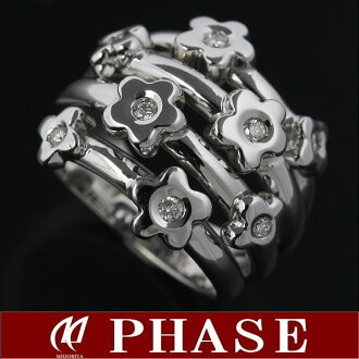 Ponte Vecchio 750 WG flower ring Diamond 8 p 11 / 96840 fs3gm