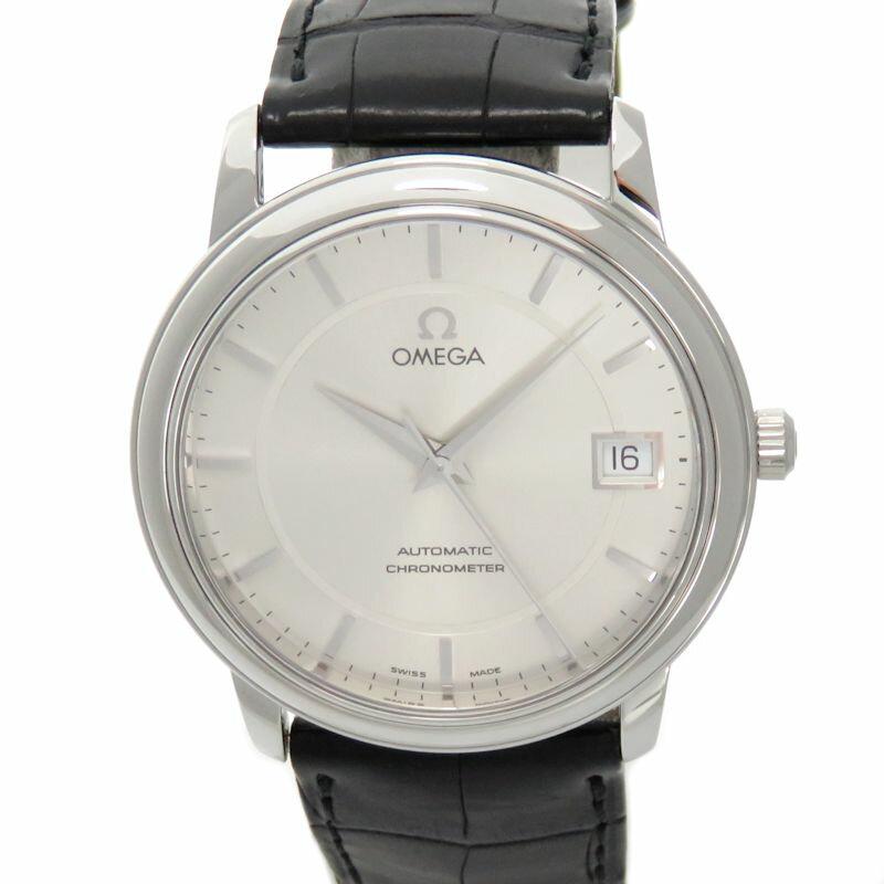 omega men 4800 31 01 de ville prestige silver dial blk leather item specifics