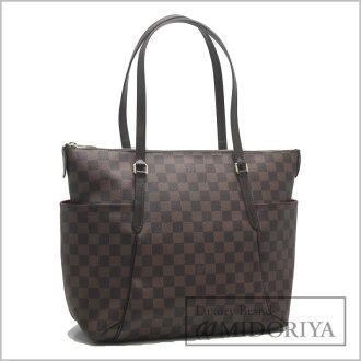 Louis Vuitton shoulder bag ☆ unused Damier standard MM N41281/18552 even Brown LOUIS VUITTON Louis Vuitton Vuitton Tote Bags