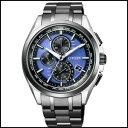 シチズン アテッサ LIGHT in BLACK ダイレクトフライト 針表示式 ソーラー メンズ 腕時計 AT8044-72L