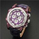 【即日発送】 SALVATORE MARRA サルバトーレマーラ メンズ腕時計 SM12111-IPPL クロノグラフ パープル×ホワイト 国内正規品