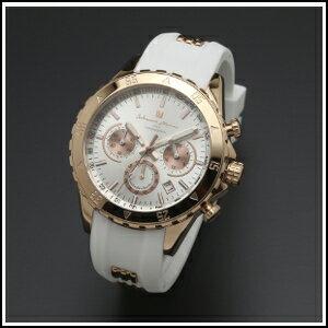 Salvatore Marra サルバトーレマーラ クロノ クオーツ 時計 メンズ 腕時計 SM17112-PGWH メーカー正規品 シルバー ピンクゴールド 男性用 ウオッチ