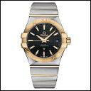 【即日発送】 【並行輸入品】OMEGA Constellation Chronometer 35mm メカニカル ブラック イエロー ゴールド メンズウオッチ【新品】