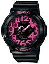 【即日発送】 BGA-130-1BDR CASIO カシオ Baby-G ベビーG レディース腕時計 ネオンダイアルシリーズ ブラック×ピンク 海外モデル 並行輸入品