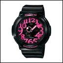 新品 即日発送 BGA-130-1BDR CASIO カシオ Baby-G ベビーG レディース腕時計 ネオンダイアルシリーズ ブラック×ピンク 海外モデル 並行輸入品