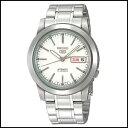 SEIKO セイコー SEIKO5 セイコー5 メンズ腕時計 メカニカル 自動巻き ホワイト×シルバー 海外モデル 並行輸入品 SNKE49J1