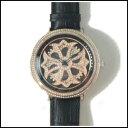新品 即日発送 Anne Coquine アンコキーヌ CROSS SERIES スワロフスキー ベゼル ブラック ゴールドグルグル メンズ レディース 腕時計