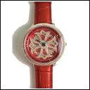 新品 即日発送 Anne Coquine アンコキーヌ メンズ CROSS SERIES スワロフスキー ベゼル レッド ゴールド グルグル メンズ レディース 腕時計