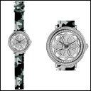 新品 即日発送 Anne Coquine アンコキーヌ ミリタリー シリーズ スワロフスキー シルバー グレイ グルグル メンズ レディース 腕時計
