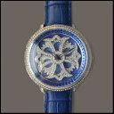 新品 即日発送 Anne Coquine アンコキーヌ CROSS SERIES スワロフスキー ベゼル ブルー シルバー メンズ レディース グルグル 腕時計