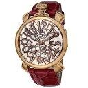 楽天Phaze-one【お得な期間限定クーポン対象商品】ガガミラノ マヌアーレ48MM 手巻き 時計 メンズ 腕時計 5011.01S MOSAICO