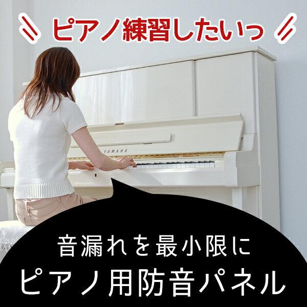 ピアノ防音パネルピアノ用ワンタッチ防音壁幅750mm×縦1300mm 厚さ50mm2枚組【…...:pialiving:10015511