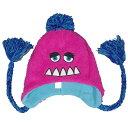 モンスターパイロットキャップ フリース帽子 (ピンク フリーサイズ) ガールズ キッズ 小物 全6色