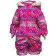 05P03Dec16ガールズノルディック柄ジャンプスーツ (ピンク/ピンク 80cm 90cm 95cm) ガールズ ベビー スキーウェア 全4色