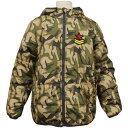 男の子ジュニア迷彩柄フード付中綿ジャンパー (ベージュ 140cm 150cm 160cm) ボーイズ ジュニア ジャンパー・コート 全2色