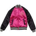 女の子ジュニア スカジャン ジャンパー (ピンク/ブラック 140cm 150cm 160cm) ガールズ ジュニア ジャンパー・コート 全2色