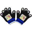 05P03Dec16キッズニンニンジャーニット手袋 (ブラック フリーサイズ) ボーイズ キッズ スキーウェア 全2色