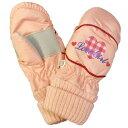 05P03Dec16ガールズキッズハート柄ミトン手袋 (ピンク 16cm) ガールズ キッズ スキーウェア 全2色