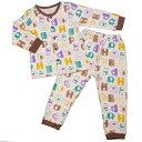 男の子 キッズ パジャマ 長袖パジャマ上下セット アニマル柄 寝間着 ニットキルトパジャマ