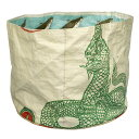 小物 カンボジア リサイクル セメントバッグ 入れ 大 文具 おもちゃ 植木鉢カバー ガーデニング に (ヘビ/大/クリーム 28x21cm) レディース 小物 全3色