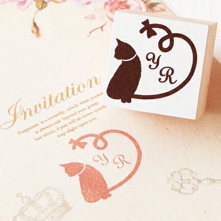 イニシャルスタンプ(ハートキャット)(結婚式 ...の紹介画像2