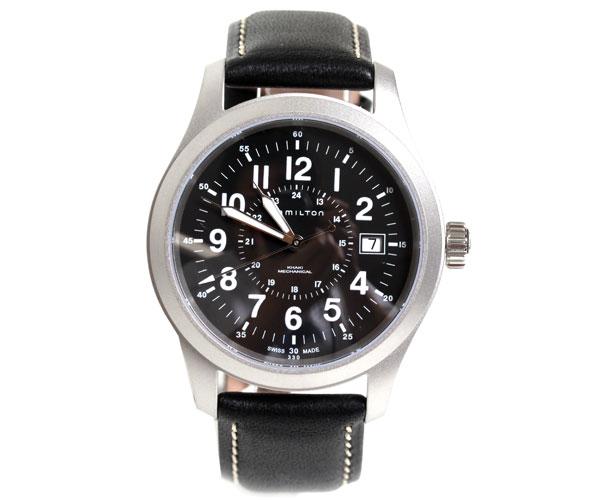【送料無料】HAMILTON ハミルトン 腕時計 カーキフィールド メカニカルオフィサー 約40mm ブラック H69519733