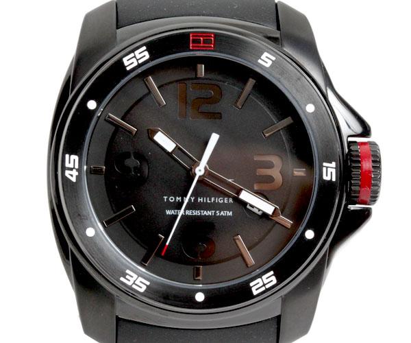 ☆ポイントMAX16倍!☆エントリーで!☆期間限定!☆【送料無料】TOMMY HILFIGER トミーヒルフィガー 腕時計 メンズ 1790708 ブラック TOMMY HILFIGER トミーヒルフィガー 腕時計 メンズ 1790708 ブラック