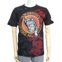 Red Monkey レッドモンキー メンズ Tシャツ 半袖 LAND OF THE RISING RDMT103 プリント 刺繍 トラ 虎 ブラック レッド メンズファッション トップス