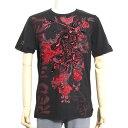 Red Monkey レッドモンキー メンズ Tシャツ 半袖 NINJA MONKEY RDMT106 プリント 刺繍 ブラック レッド メンズファッション トップス