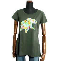 HUNTING WORLD ハンティングワールド レディース Tシャツ 0108-KH カーキグリーン コットン トップス 40 42