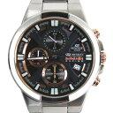 【送料無料】CASIO カシオ 腕時計 EFR-544RB-1ADR EDIFICE エディフィス クロノグラフ ブラック×シルバー 海外モデル