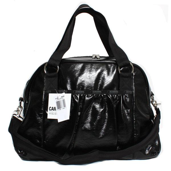 【送料無料】【最新モデル】LeSportsac レスポートサック レディース ボストンバッグ ABBEY CARRY ON アビーキャリーオン 8109-M0988 BLACK CRINKLE PATENT ブラック 旅行バッグ