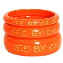 SEE BY CHLOE シーバイクロエ バングル アクセサリー ブレスレット PRODUCTS 9K7079 N21 A30 CALYPSO オレンジ レディース