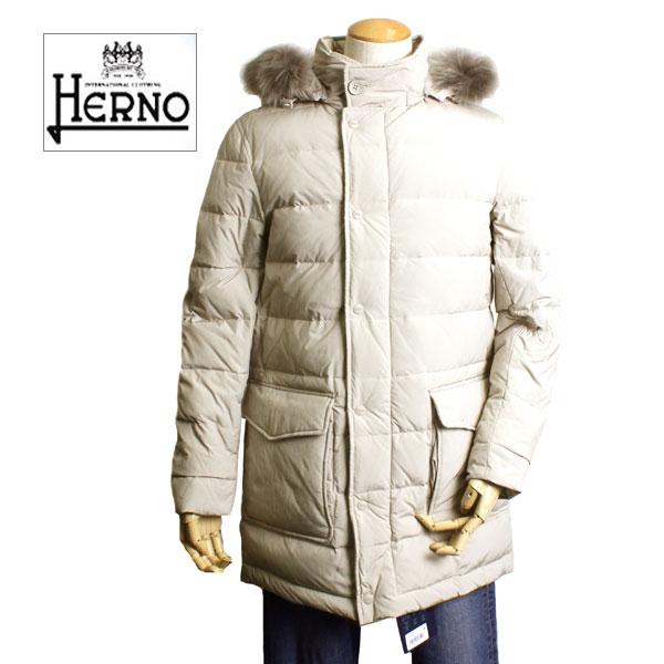 【2014-2015AW新作】【送料無料】HERNO ヘルノ メンズ ダウンジャケット POLAR-TECH ダウン コート ダウン PI0110U 19290 2100 ライトグレーベージュ