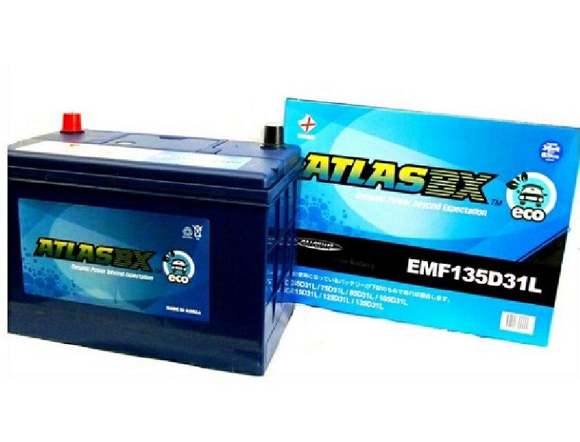 【送料無料】 アトラス ATLAS バッテリー エコ EMF135D31L 自動車用 ATLAS ECO 充電制御車対応