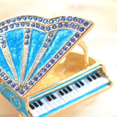 <グランドピアノAジュエリーボックス>クリスタルがキラキラ輝くロマンティックなピアノの小物入れ置物女の子へのプレゼントに卒業入学誕生日プレゼント女性【あす楽対応】超目玉半額以下