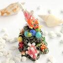 <サンゴジュエリーボックス>珊瑚礁のインテリア置物熱帯魚が泳ぐ南国の海をデザインクリスタル付き小物入れプレゼントにギフト卒業入学可愛い誕生日プレゼント女性【あす楽対応】超目玉母の日新生活